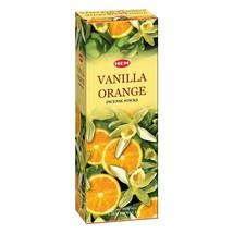 Hem Vanilla Orange Incense Stick Beautiful Handmade Natural Fragrance 6x20 Stick - $16.23