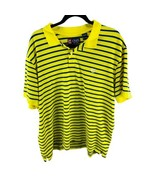 CHAPS BY RALPH LAUREN Yellow Blue Stripe Short Sleeve Polo Shirt Size 2XL - $12.38