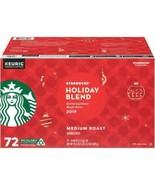 STARBUCKS HOLIDAY BLEND COFFEE K-CUPS MEDIUM ROAST (72 ct.) New 2020 - $47.49