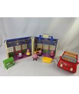 Peppa Pig School House Figures Car Lot - $49.95