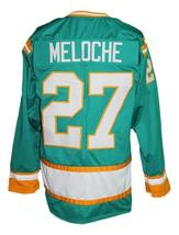 Any Name Number California Seals Retro Hockey Jersey Green Meloche Any Size image 2