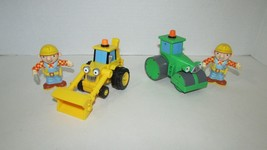 Bob the builder Figures Push Pull Scoop truck Roley set small lot - $12.86