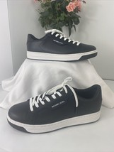 Michael Kors Sneakers  Keating Black Leather Lace Up Size 9 S1 - $78.39