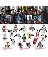 18pcs Star Wars Clone Trooper Commander Cody Gree Neyo Bly Custom Minifi... - $34.99