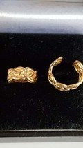 1 x pair solid bronze  ear cuffs ,  ear clips can be worn anywhere
