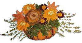 Fall At Its Best Unique Portraits [ Pumpkin Floral Spray ] Embroidered I... - $16.82