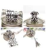 Eiffel Tower Windmill Locomotive Train Landmark Bead for European Charm ... - $5.00