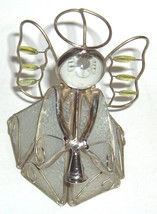 Angels  Collection  adult collectible  figurine - clear stained glass te... - $15.39