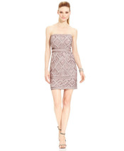 Adrianna Papell Beaded Cocktail Dress Size 14 # K 147 - $29.69