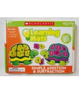 Scholastic Turtle Learning Mats Game Simple Addition & Subtraction Math New - $9.89