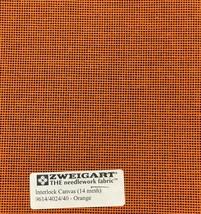 Interlock Needlepoint Canvas 14 Mesh Orange Custom Cuts Available Blank Canvas  - $7.13+