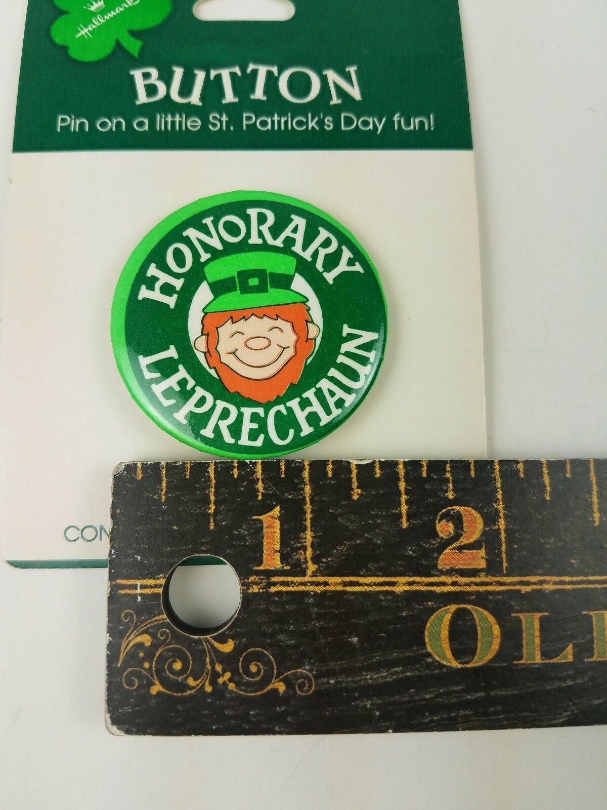 Vintage Hallmark Holiday St Patrick's Day Pin Honorary Leprechaun image 3