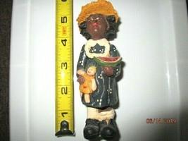 Carolyn Carpin African American Girl w/ Doll and Watermelon 1983 RARE - D6 - $23.09