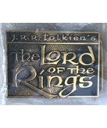 Vintage 1979 THE LORD OF THE RINGS Solid Brass BTS Belt Buckle Tolkien E... - $39.95
