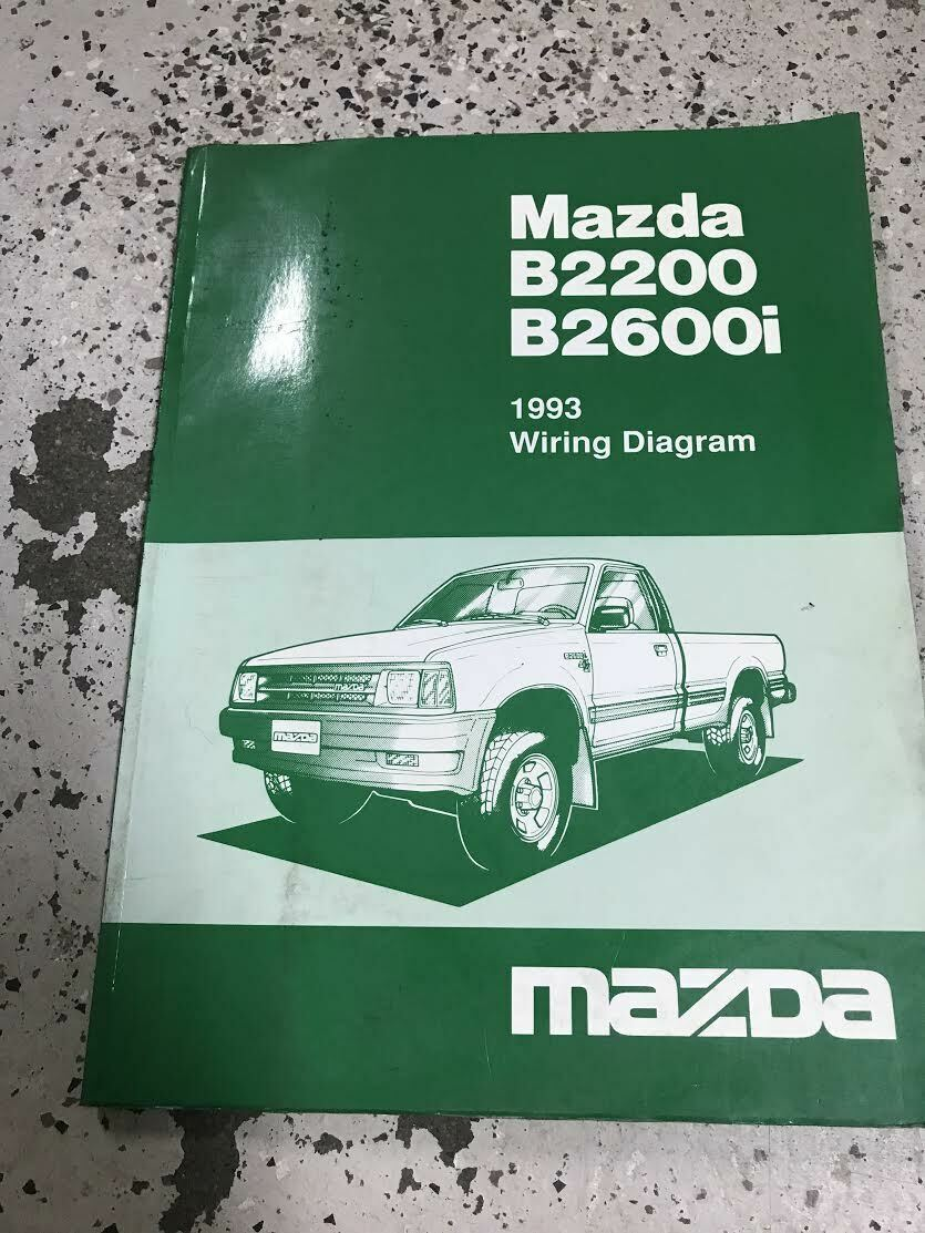 Primary image for 1993 Mazda B2200 B2600i Pickup Truck Electrical Wiring Diagram Manual OEM