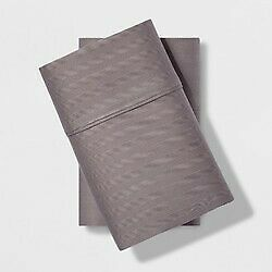 Standard 500 Thread Count Herringbone Tri-ease Pillowcase Set Gray Project 62