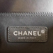 AUTHENTIC 2019 CHANEL BLACK Limited Edition Leather Small Boy Flap Bag image 8