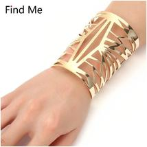 Hollow Wide Cuff Bracelet For Women - $10.00