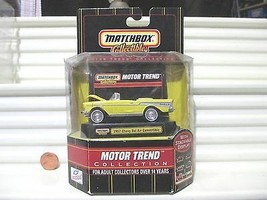 Matchbox Collectibles Motor Trend 1957 Yellow Chevy Bel Air Convertible ... - $39.59