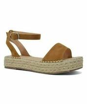 Chase & Chloe, Tan Jenea Platform Sandal, Sz 7 - $31.68