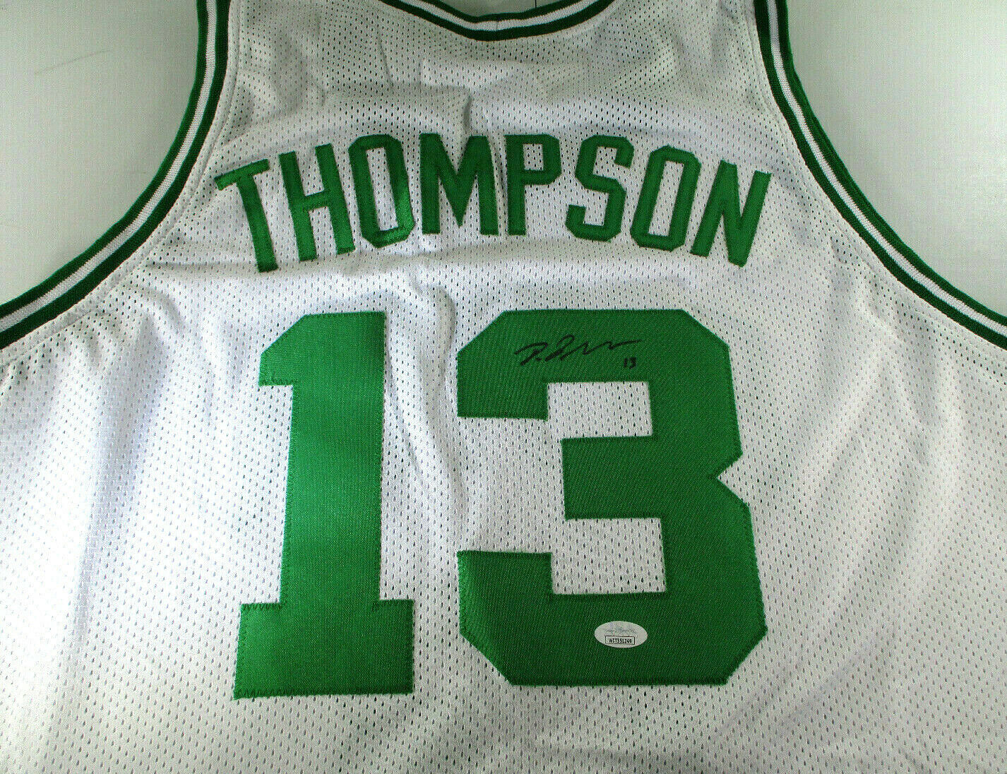 TRISTAN THOMPSON / AUTOGRAPHED BOSTON CELTICS CUSTOM BASKETBALL JERSEY / JSA COA