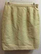 Women Skirt Yellow Color. Le Suit Brand, Size 6P. Back Zipper. Elastic at Sides. - $8.00
