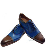 Handmade Made to Order Top Class Oxford Dress Shoes Two ton MultiColor F... - $149.99+