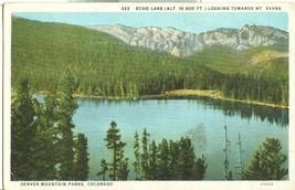 Echo Lake looking Towards Mt. Evans, Denver Mountain Parks, Colorado, postcard - $5.99
