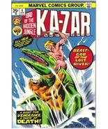 Ka-Zar Lord of the Hidden Jungle Comic Book #6 Marvel Comics 1974 VERY F... - $7.14