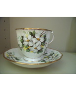 Royal Albert Bone China Cup and Saucer White Dogwood - $32.00