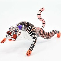 Handmade Alebrijes Oaxacan Copal Wood Carving Painted Folk Art Tiger Figurine image 2