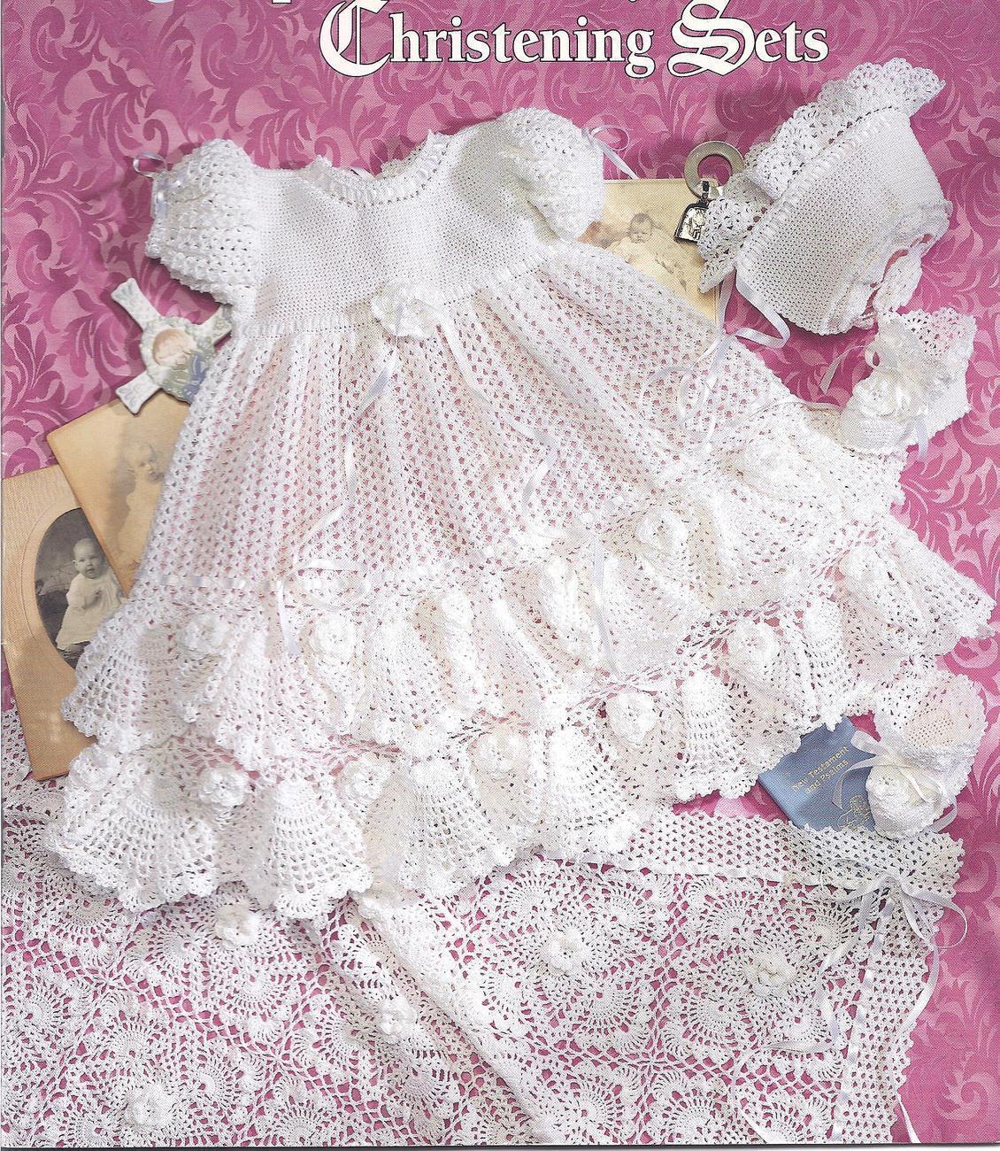 Precious heirloom christening setsknit and 50 similar items crochet pattern 108 dt1010fo