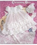 Precious Heirloom Christening Sets~Knit & Croch... - £30.92 GBP