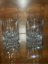 PAIR 2 Mikasa ARCTIC LIGHTS Double Old Fashioned Glasses Mint Condition - $38.00