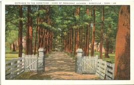Entrance to the Hermitage, Home of President Jackson, Nashville, Tennessee - $4.99