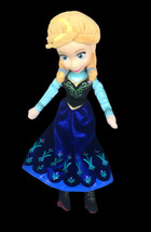 "Disney Plush Frozen Anna Doll Blue Dress Plastic Face Stuffed Toy 16"" Just Play - $12.37"