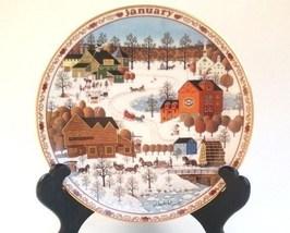 Charles Wysocki Days to Remember Calendar Plate JANUARY Fox Run - $30.00