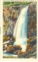 Falling Springs between Hot Springs and Covington, VA, unused linen Post... - $4.99