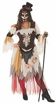 Conjure Woman Voodoo Skeleton Priestess Adult Womens Costume Plus Size - $50.00
