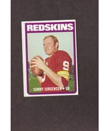 1972 Topps # 195 Sonny Jurgensen Washington Redskins - $1.50