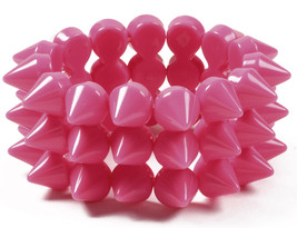 NWT Amrita Singh Hot Pink Resin Spike Stretch Bracelet BRC 1303 - $17.50
