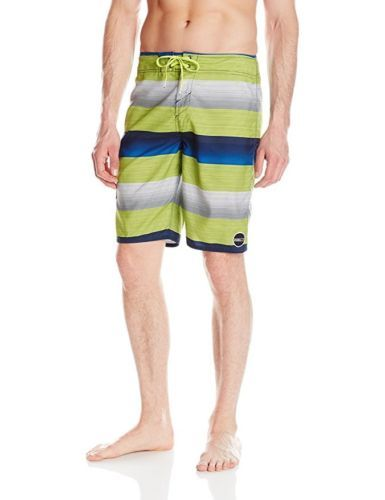 Men's 28 O'Neill Santa Cruz Stripe Boardshorts Surf Short Full-Length Quick Dry