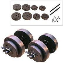 XL Mega Weight Set 240 Lbs Bench Weights Bar Press Barbell Dumbbell SuperSet Gym image 3