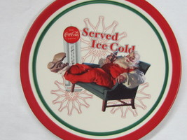 """Coca-Cola Christmas Plate """"Served Ice Cold"""" - FREE SHIPPING - $13.85"""