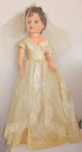 """Vintage Beautiful Bride 28"""" Fashion Doll Wedding Dress - $48.99"""