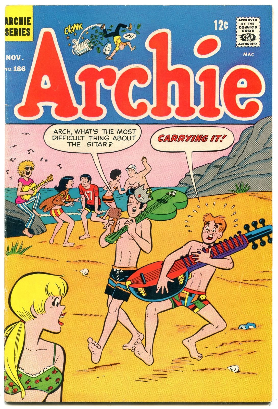 Primary image for Archie Comics #186 1968- Silver Age-Betty & Veronica- f/vf