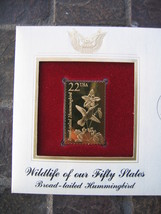 Hummingbird Wildlife 50 States Broad Tailed Gold Stamp replica Golden Cover - $5.19