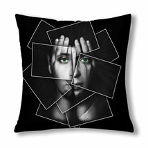 "InterestPrint? Face Shines Through Hands Divided Throw Pillow Cover 18""x... - $13.99"