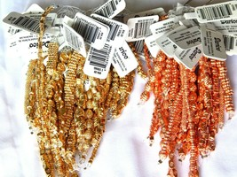 DARICE METAL BEADS GOLD OR COPPER ASSORTED SIZES AND STYLE 4 STRAND PACK... - $5.00