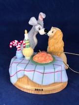 Grolier Disney Lady and the Tramp 2013 Porcelain Ornament Bella Notte Di... - $79.19